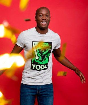 Tee-shirt homme avec motif Maitre Yoda – Star Wars vue6 - STAR WARS - GEMO