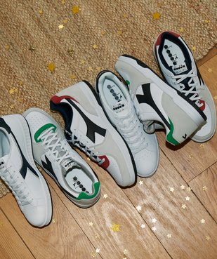 Tennis homme multicolores à lacets – Diadora Raptor vue6 - DIADORA - GEMO