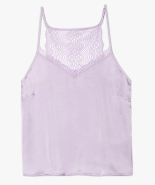 Haut de pyjama femme à fines bretelles et dos dentelle vue4 - GEMO(HOMWR FEM) - GEMO