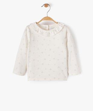 Tee-shirt bébé fille avec motifs pailletés – Lulu Castagnette vue1 - LULUCASTAGNETTE - Nikesneakers