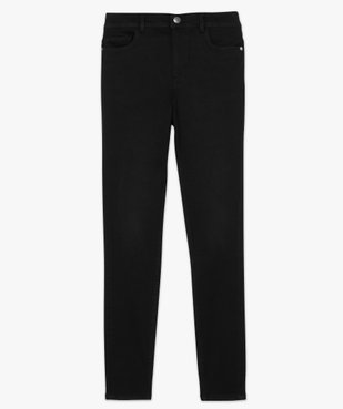 Jean femme skinny taille haute super stretch noir uni vue4 - GEMO(FEMME PAP) - GEMO