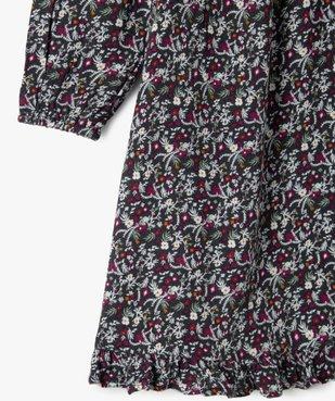 Robe fille à manches longues à motifs fleuris vue2 - GEMO (ENFANT) - GEMO