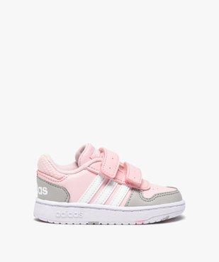 Baskets bébé fille multicolores à scratch – Adidas Hoops vue1 - ADIDAS - Nikesneakers