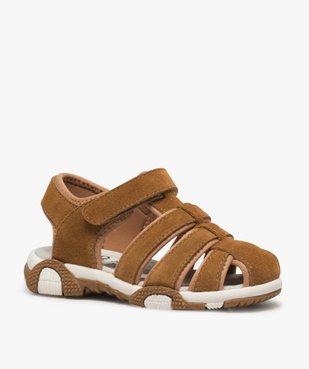 Sandales garçon unies à bout fermé vue2 - Nikesneakers (ENFANT) - Nikesneakers