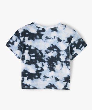 Tee-shirt fille imprimé avec inscriptions brodées vue3 - GEMO (JUNIOR) - GEMO