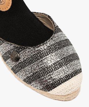 Sandales femme en toile à talon compensé – Terre de Marins vue6 - TERRE DE MARINS - GEMO