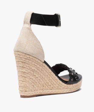 Sandales femme à talon compensé et bride à œillets Only vue4 - ONLY - GEMO