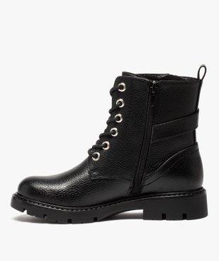 Boots fille à lacets style rock fermeture zippée vue3 - GEMO (ENFANT) - GEMO