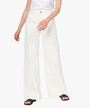 Pantalon femme en toile épaisse coupe Flare vue1 - GEMO(FEMME PAP) - GEMO