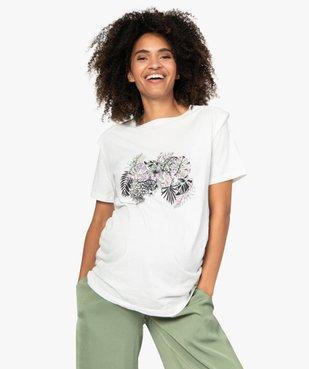 Tee-shirt de grossesse à épaulettes vue1 - GEMO (MATER) - GEMO