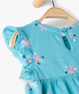 Robe bébé fille ample à motifs vue3 - GEMO(BEBE DEBT) - GEMO