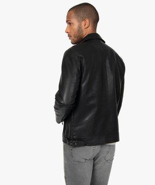 Blouson homme look motard imitation cuir vue4 - GEMO (HOMME) - GEMO