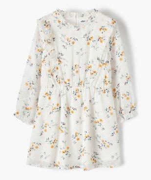 Robe fille en voile avec motifs fleuris et petits volants vue1 - Nikesneakers (ENFANT) - Nikesneakers