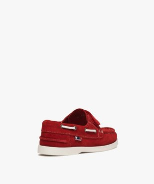 Chaussures bateau garçon dessus cuir à scratch vue4 - GEMO (ENFANT) - GEMO