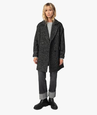 Manteau femme mi-long à double boutonnage vue1 - Nikesneakers(FEMME PAP) - Nikesneakers