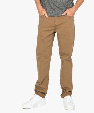 Pantalon homme straight uni en coton stretch vue1 - Nikesneakers (HOMME) - Nikesneakers