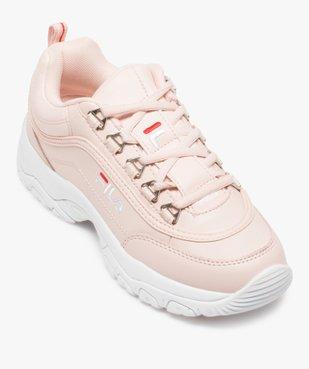 Baskets Dad shoes* femme à lacets et passants métallisés - Fila Strada Low vue5 - FILA - Nikesneakers