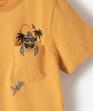 Tee-shirt garçon avec poche poitrine avec motif vue2 - GEMO (ENFANT) - GEMO
