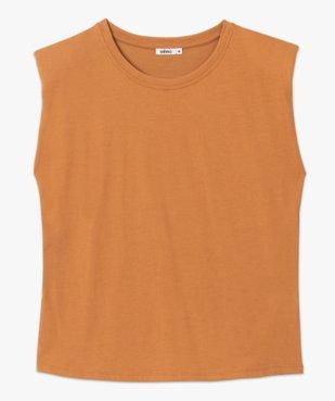 Tee-shirt femme à épaulettes sans manches vue4 - GEMO(FEMME PAP) - GEMO