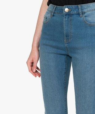 Jean femme slim taille haute délavé et extensible vue2 - GEMO C4G FEMME - GEMO