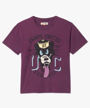 Tee-shirt femme ample à manches courtes et motif XXL - CAMPS vue4 - CAMPS UNITED - Nikesneakers