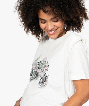 Tee-shirt de grossesse à épaulettes vue2 - GEMO (MATER) - GEMO