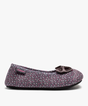 Chaussons femme forme ballerine à pois - Isotoner vue1 - ISOTONER - Nikesneakers
