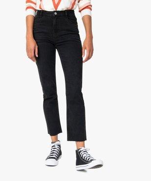 Jean femme regular taille haute à bords francs vue1 - Nikesneakers(FEMME PAP) - Nikesneakers