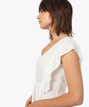 Blouse femme sans manches à fines rayures dorées vue2 - GEMO(FEMME PAP) - GEMO