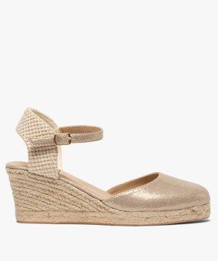 Sandales femme à talon compensé et bout fermé vue1 - GEMO(URBAIN) - GEMO