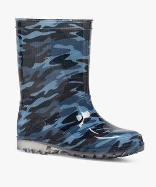 Bottes de pluie garçon motif camouflage vue2 - GEMO (ENFANT) - GEMO
