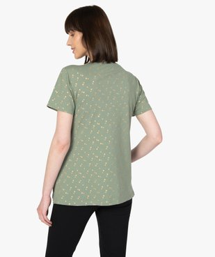 Tee-shirt de grossesse et d'allaitement à motifs vue3 - GEMO (MATER) - GEMO