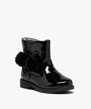 Boots fille vernies avec pompons sur le côté vue2 - Nikesneakers (ENFANT) - Nikesneakers