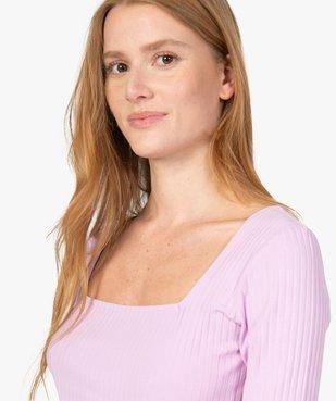 Tee-shirt femme à manches courtes en maille côtelée vue2 - Nikesneakers(FEMME PAP) - Nikesneakers