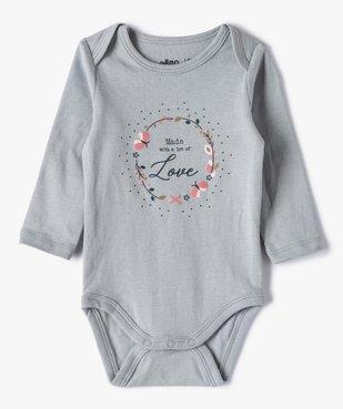 Body bébé fille manches longues à motifs divers (lot de 3) vue4 - GEMO C4G BEBE - GEMO