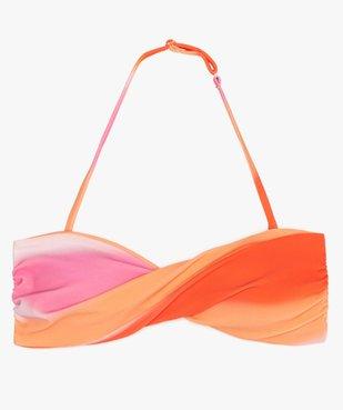 Haut de maillot de bain fille bandeau à bretelles amovibles vue1 - GEMO (JUNIOR) - GEMO