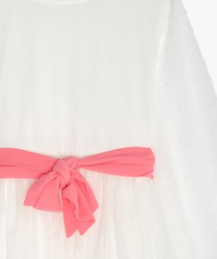 Robe fille en tulle, voile et plumetis vue2 - GEMO (ENFANT) - GEMO