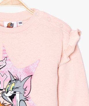Sweat bébé fille à volants - Tom & Jerry vue3 - TOM ET JERRY - GEMO