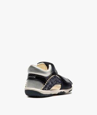 Sandales bébé fille à scratch détails vernis - Geox vue4 - GEOX - GEMO