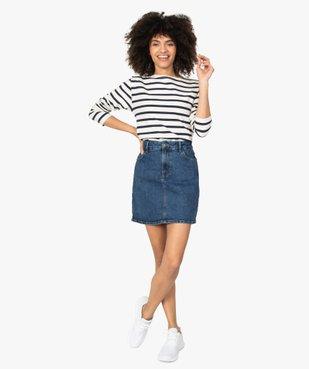 Jupe femme en jean extensible vue5 - GEMO(FEMME PAP) - GEMO