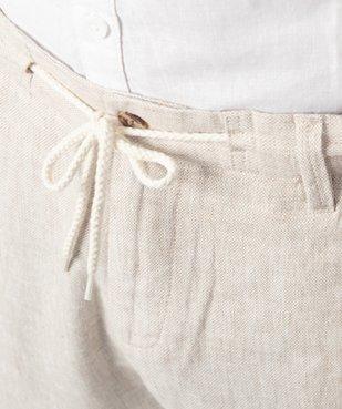 Bermuda homme en lin et coton avec ceinture cordon vue2 - Nikesneakers (HOMME) - Nikesneakers