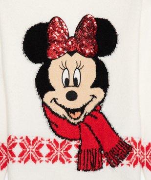 Pull de Noël fille imprimé Minnie avec sequins brodés - Disney vue2 - DISNEY DTR - Nikesneakers