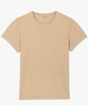 Tee-shirt homme à manches courtes avec finitions roulottées vue4 - GEMO (HOMME) - GEMO