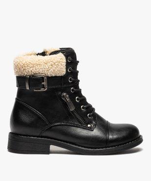 Boots fille à col rembourré fermeture lacets et zip vue1 - GEMO (ENFANT) - GEMO