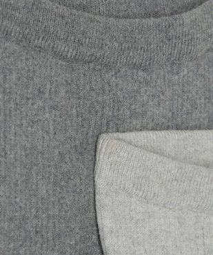 Pantalon bébé en maille côtelée (lot de 2) vue2 - GEMO(BB COUCHE) - GEMO
