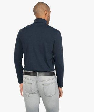 Tee-shirt homme ajusté à col roulé vue3 - GEMO (HOMME) - GEMO