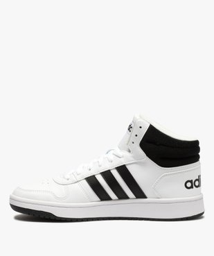 Baskets homme semi-montantes à lacets – Adidas Hoops Mid vue3 - ADIDAS - GEMO