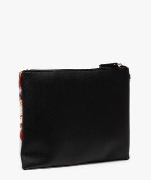 Pochette femme avec porte-monnaie à motifs fleuris vue2 - GEMO (ACCESS) - GEMO