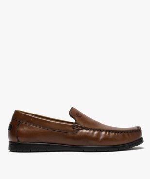 Mocassins homme unis en cuir – Pierre Cardin vue1 - PIERRE CARDIN D - Nikesneakers