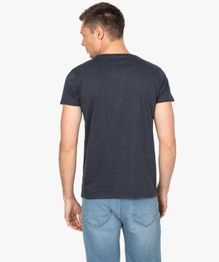Tee-shirt homme à manches courtes imprimé football vue3 - GEMO C4G HOMME - GEMO
